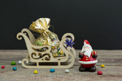 Candy Christmas. Candies in a gift box for Christmas royalty free stock photos