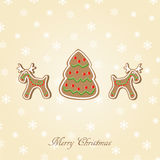 Candy Christmas card Royalty Free Stock Image