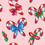 Candy christmas seamless pattern. Pink  candy seamless pattern illustration Royalty Free Stock Photography