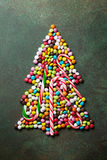 Candy christmas tree shape Stock Image