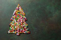 Candy christmas tree shape Royalty Free Stock Image