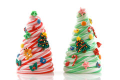 Candy christmas trees Royalty Free Stock Image