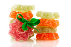 Candy Christmas wreaths Stock Photography
