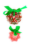Candy Christmas wreaths Royalty Free Stock Photo