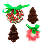 Candy Christmas wreaths Stock Image