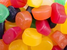 Candy close-up. Different flavours of candy mixed up in a pile Royalty Free Stock Image