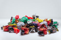 Candy. Closeup of candy or sweets in colorful paper wrappings Royalty Free Stock Photography