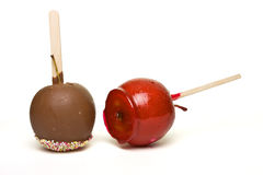 Candy Coated Apples Stock Photo