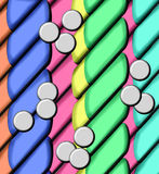 Candy Coated Capsules and Pills Royalty Free Stock Photography