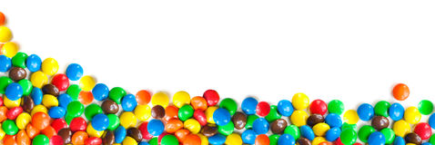 Candy coated chocolates Royalty Free Stock Photo