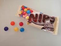 NIPS White Chocolate stock photos