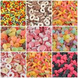 Candy collage Stock Image