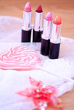 Candy color lipsticks Stock Images