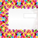 Candy color rainbow glossy circle background Royalty Free Stock Image