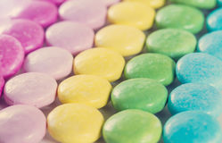 Candy-colored background. With retro filter effect Royalty Free Stock Image