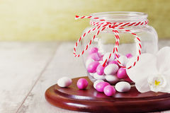 Candy with colored glaze stock image