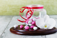 Candy with colored glaze stock photos