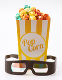 Candy colored popcorn Royalty Free Stock Photos