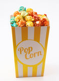 Candy colored popcorn royalty free stock photo