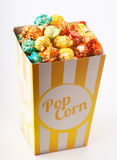 Candy colored popcorn Stock Image