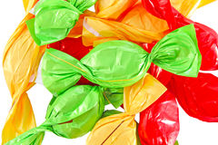 Candy in colored wrapper Stock Photos