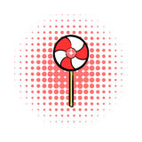 Candy comics icon. On the white  background Stock Photo