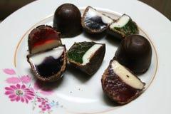 Candy con gelatina fotografie stock