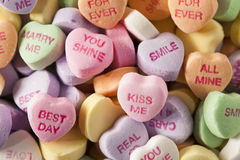 Candy Conversation Hearts for Valentine's Day Stock Image