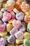 Candy Conversation Hearts for Valentine's Day. Colorful Candy Conversation Hearts for Valentine's Day stock photography