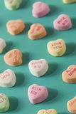 Candy Conversation Hearts for Valentine's Day. Colorful Candy Conversation Hearts for Valentine's Day royalty free stock images