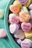 Candy Conversation Hearts for Valentine's Day. Colorful Candy Conversation Hearts for Valentine's Day stock photo