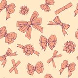 Candy Cookies Bows Seamless Pattern Stock Photo