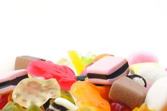 Candy and copyspace Royalty Free Stock Photo
