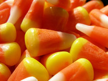 Candy Corn. Detail of Halloween candy corn stock photo