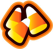 Candy Corn. Clipart isolated with orange shaded outlines Royalty Free Stock Photography