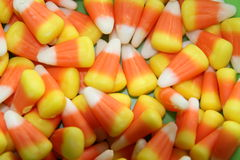 Candy Corn. A spread of candy corn Stock Image