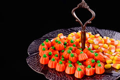Candy Corn Antique Plate Royalty Free Stock Images