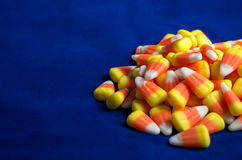 Candy Corn on Blue - Offset Royalty Free Stock Photography