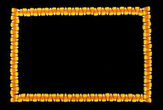 Candy Corn Border Background Royalty Free Stock Photo