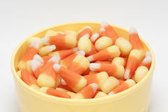 Candy Corn In Bowl Royalty Free Stock Photos