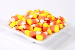 Candy corn in a bowl Stock Images