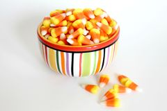 Candy corn in a bowl Stock Photo