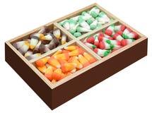 Candy corn box Stock Photography
