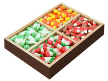 Candy corn box Stock Image