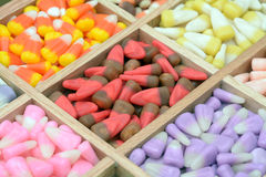 Candy corn box Stock Photo