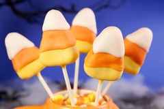 Candy corn cake pops Stock Photos