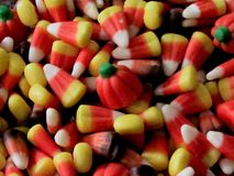 Candy Corn and Pumpkins Galore royalty free stock photos
