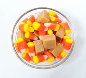 Candy Corn and Caramels Royalty Free Stock Photos