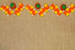 Candy Corn Chevron with Pumpkins Stock Images
