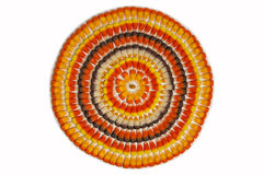 Candy Corn Circles Stock Photos